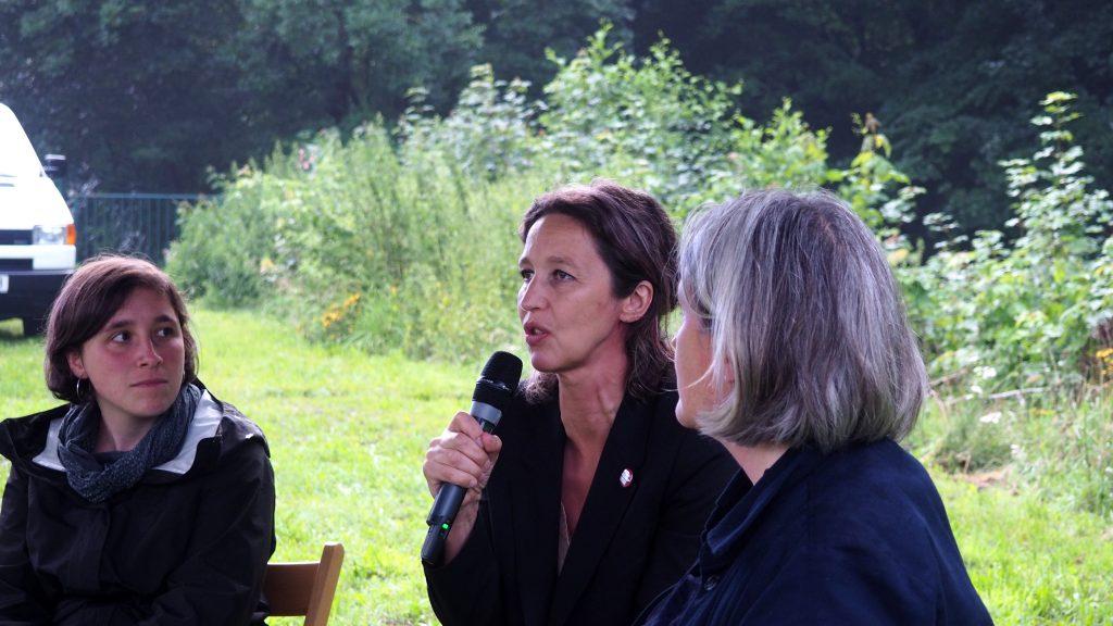 Ute Adamczewski beantwortet Fragen aus dem Publikum. Foto: sLAG
